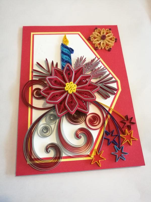 quilling Noël jolie carte