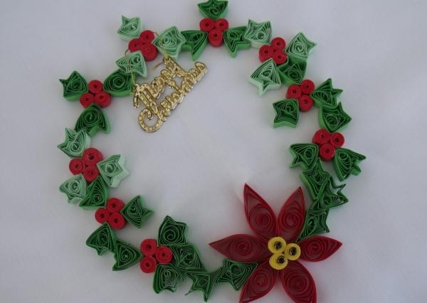 quilling Noël lettres métallisées