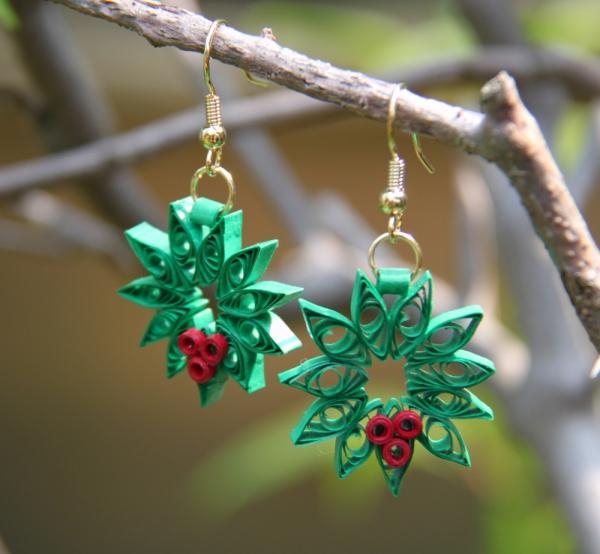 quilling Noël ornements verts