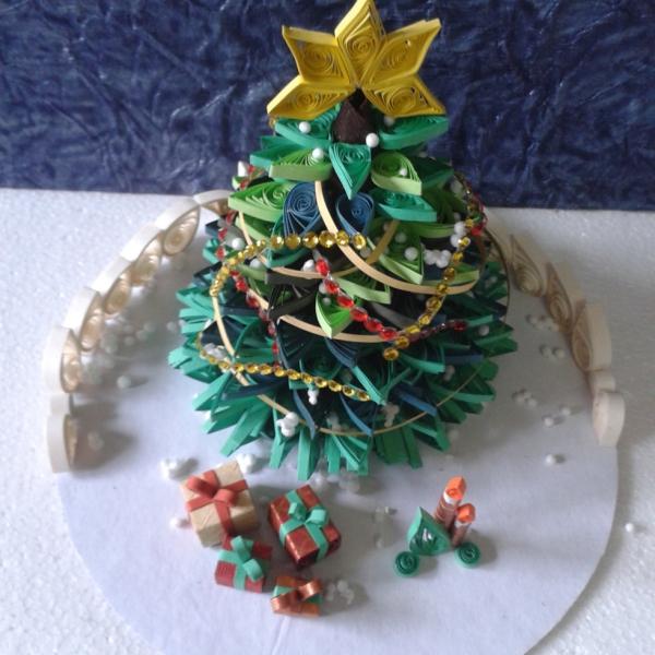 quilling Noël un sapin assez compliqué