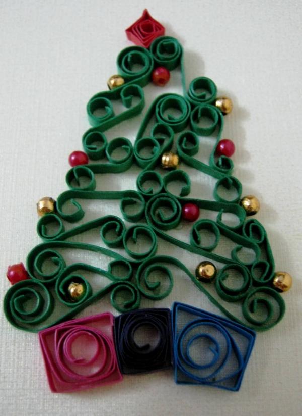 quilling Noël un sapin facile à fabriquer