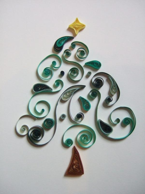 quilling Noël un sapin tendre