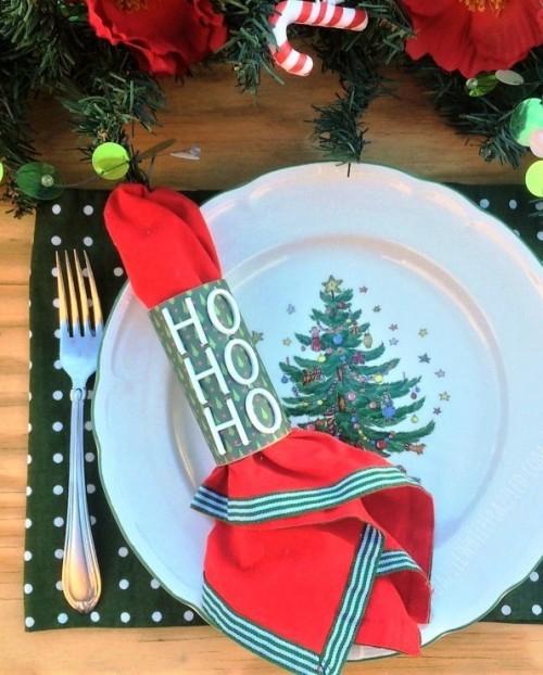 rouleau papier toilette couvert de Noël