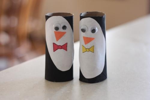 rouleau papier toilette des pingouins sympas