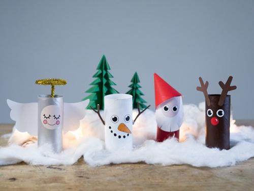 rouleau papier toilette les personnages de Noël