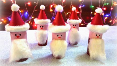 rouleau papier toilette une armée de Pères Noël