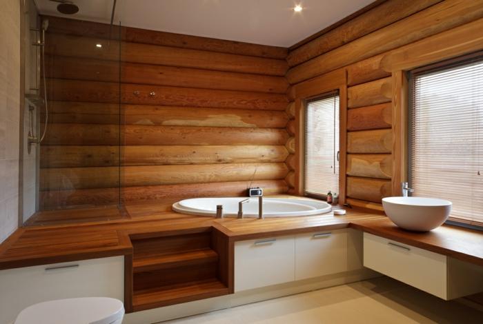 salle de bains idée estrade en bois