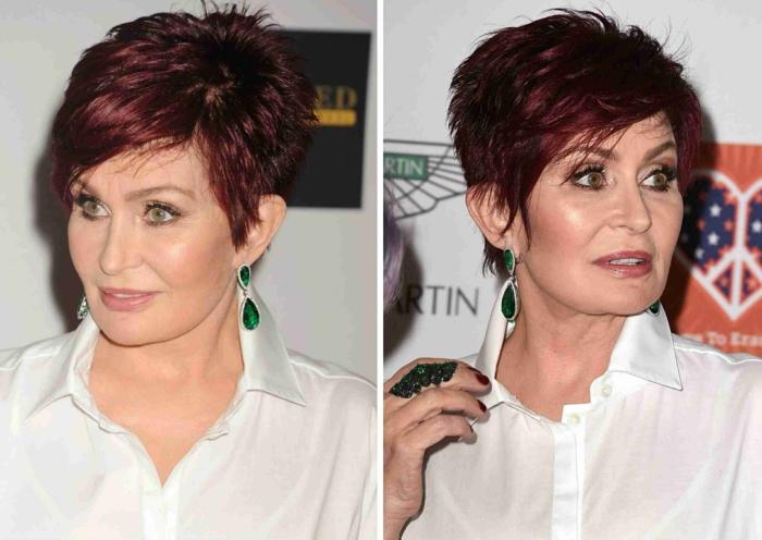 sharon osborn coupe cheveux courts femme 50 ans