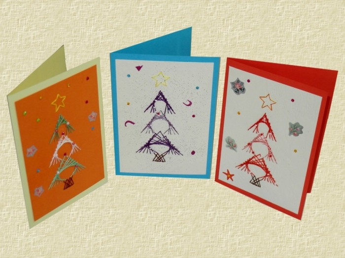 tableau fil tendu cartes diy