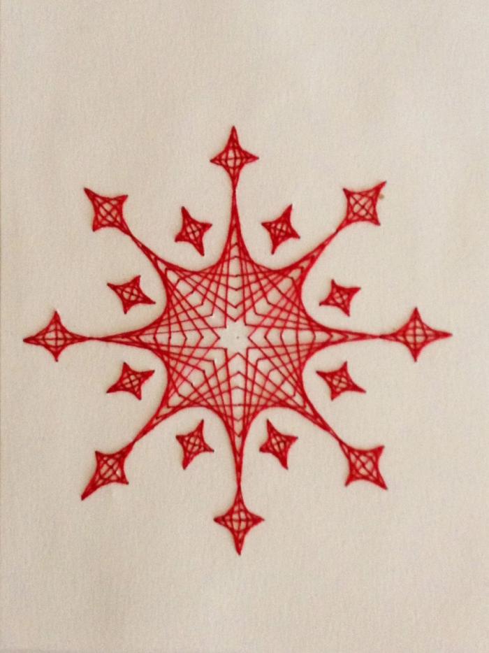 tableau fil tendu fil rouge