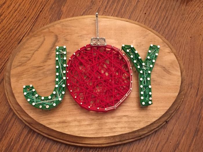 tableau fil tendu un panneau de Noël