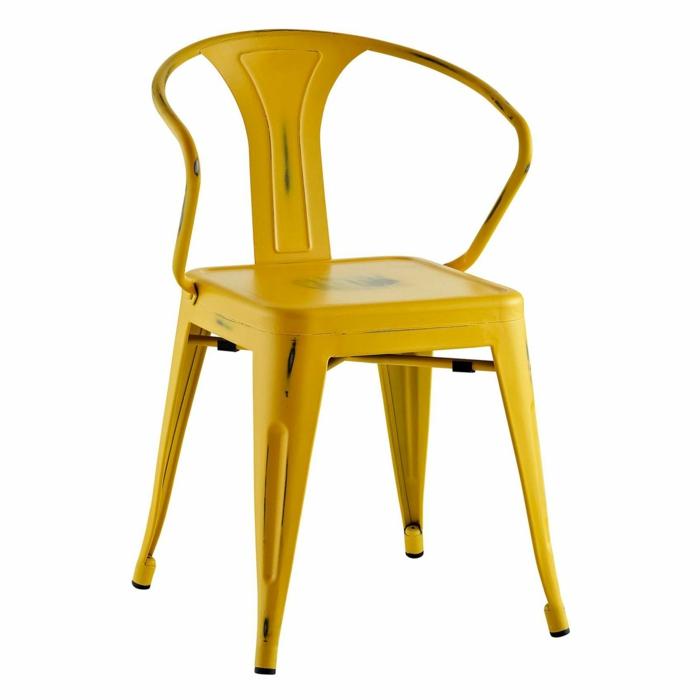tendances mobilier hôtellerie et restauration chaise tolix jaune