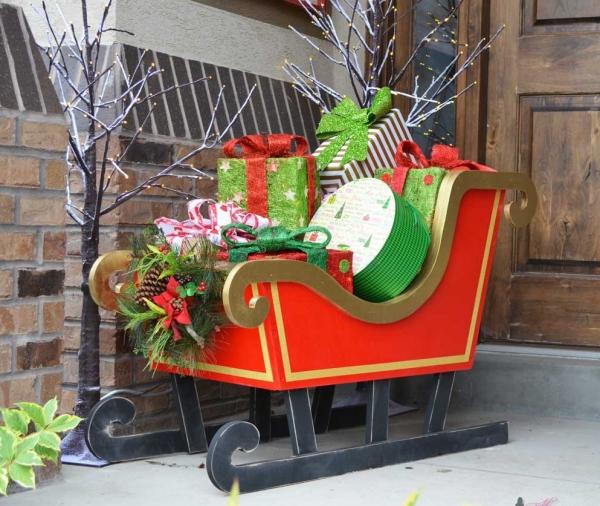 traîneau Père Noël DIY belle décoration