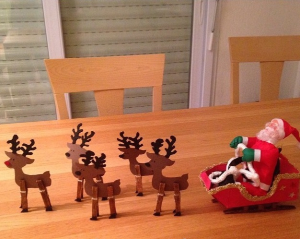 traîneau Père Noël DIY le résultat final