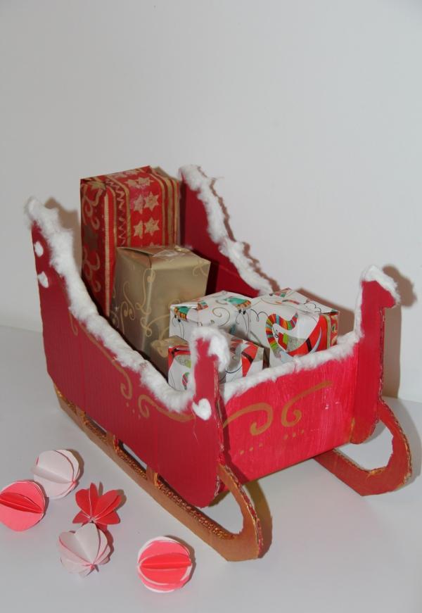 traîneau Père Noël DIY modèle