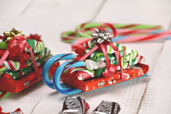 traîneau Père Noël DIY un candy objet