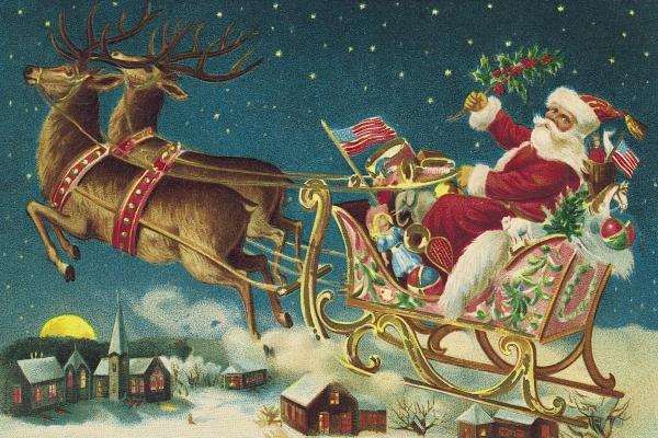 traîneau Père Noël DIY un joli tableau