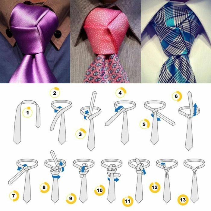 trinité faire un noeud de cravate