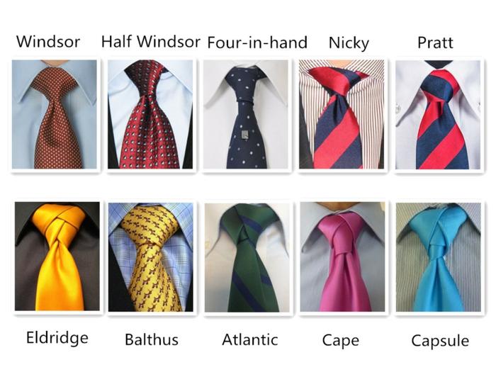 variantes comment faire un noeud de cravate