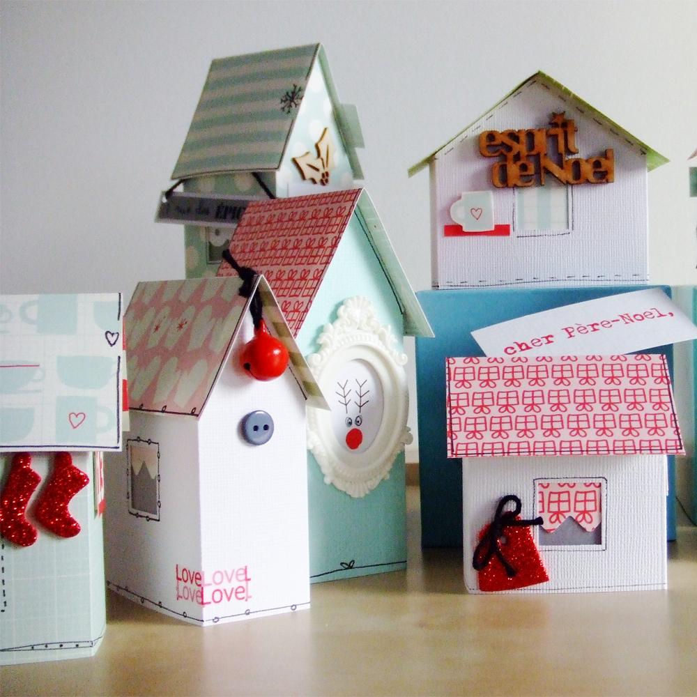 fabriquer un village de no l en carton pour recr er l atmosph re de la f te. Black Bedroom Furniture Sets. Home Design Ideas