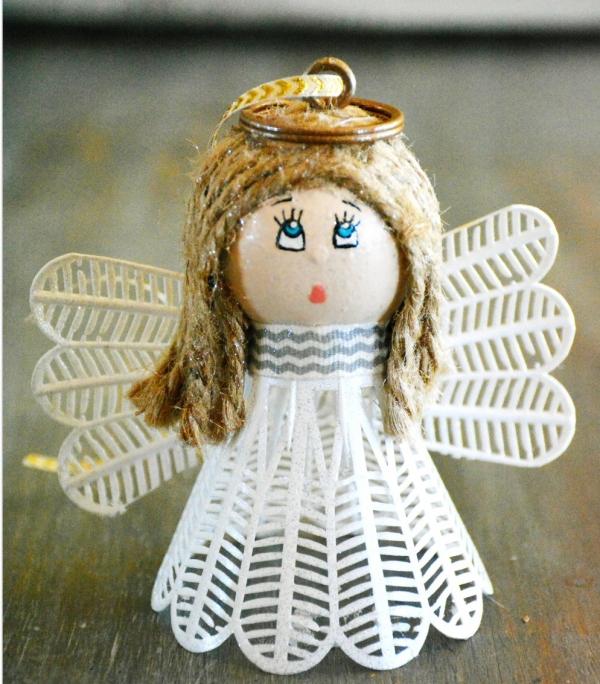 ange de Noël à fabriquer ange blanc