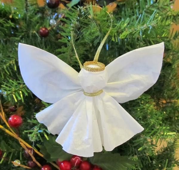 ange de Noël à fabriquer l'ange à la couronne