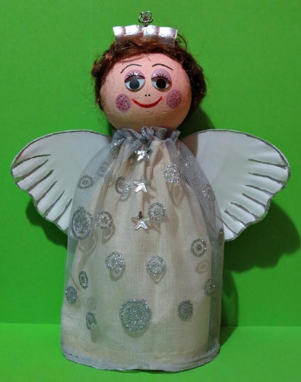 ange de Noël à fabriquer papier et tissu