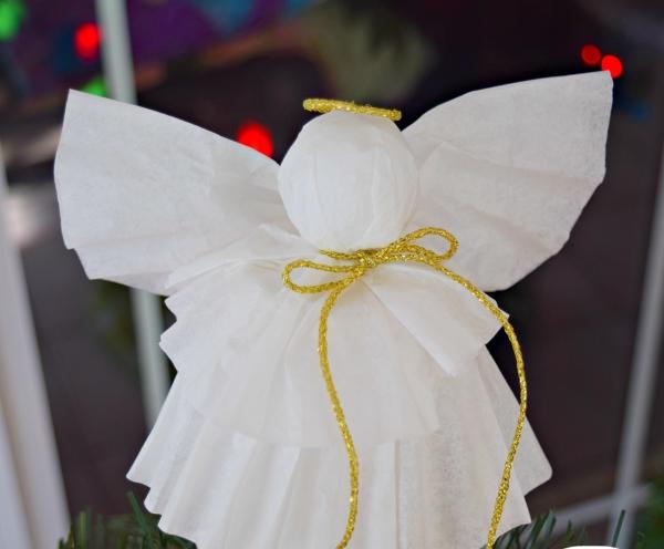 ange de Noël à fabriquer papier froissé