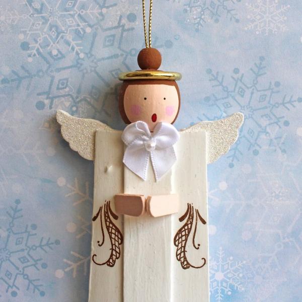ange de Noël à fabriquer un ange en bois