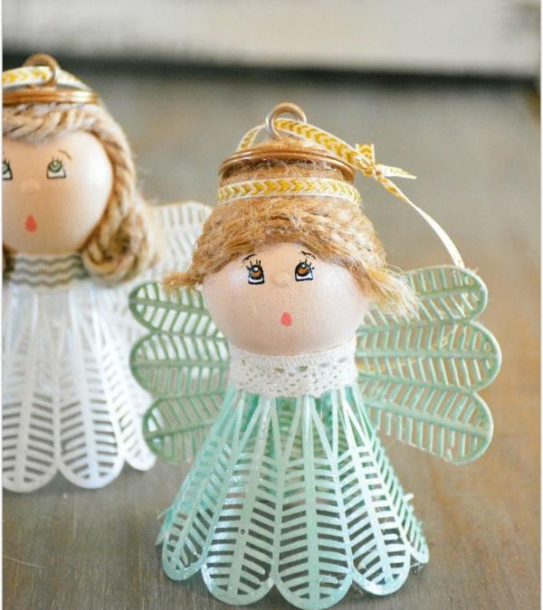 ange de Noël à fabriquer volant de badminton
