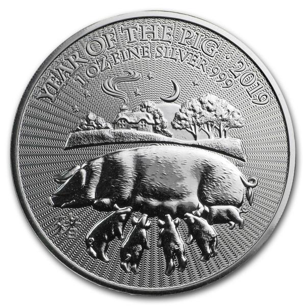année du cochon médaille d'argent