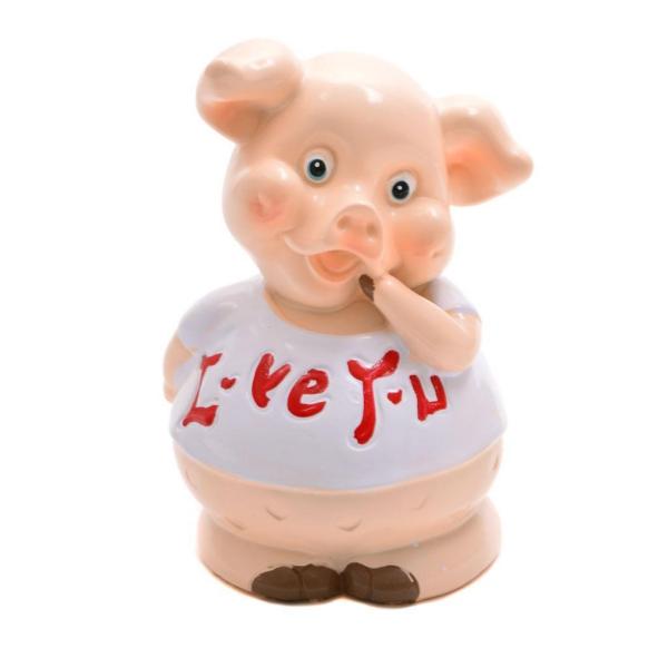 année du cochon souriant et positif