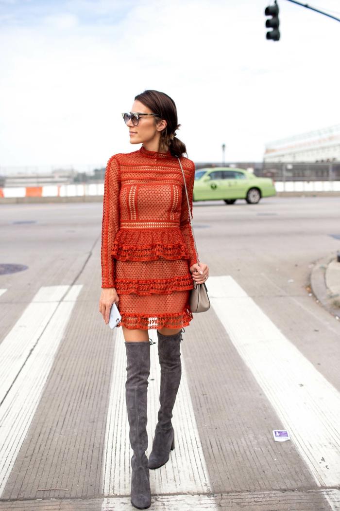 belle robe idée comment porter des cuissardes