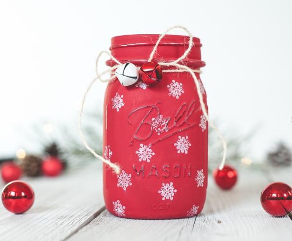 bocal de Noël grelots autour de la gorge
