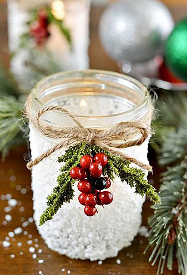 bocal de Noël jolie décoration