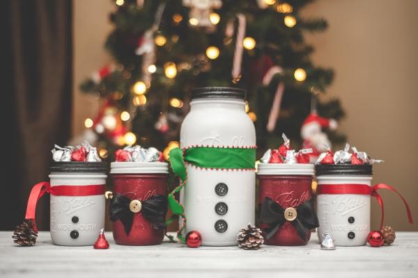 bocal de Noël plusieurs bocaux