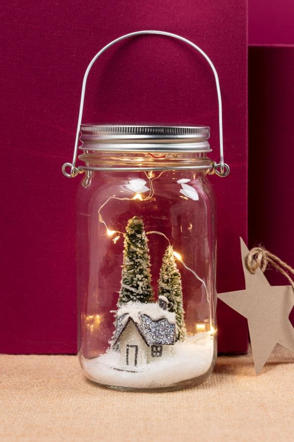 bocal de Noël terrarium thématique