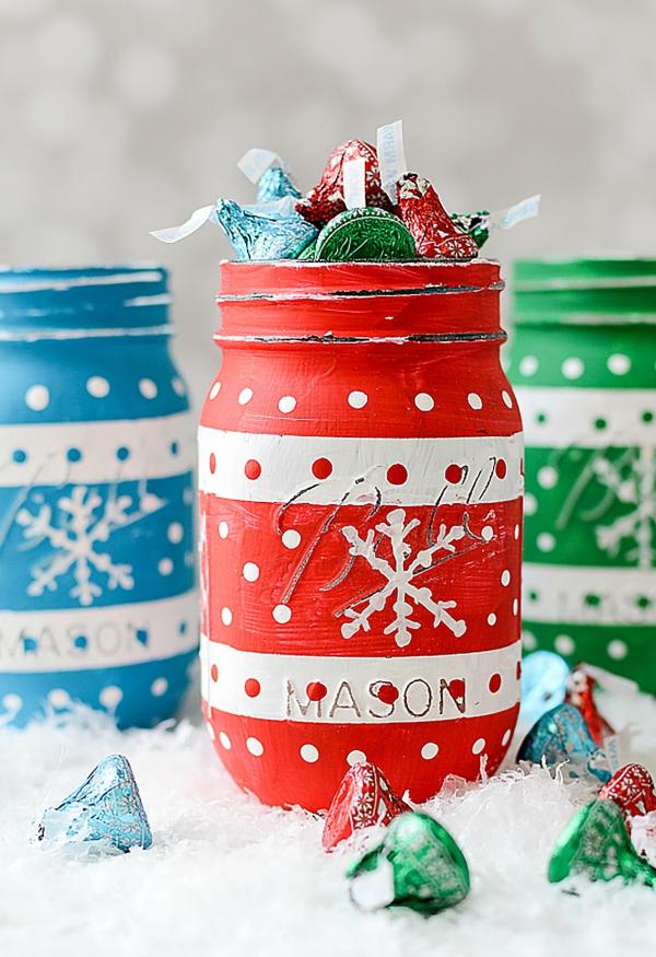 bocal de Noël toutes les couleurs sont bonnes