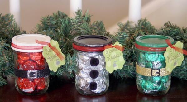 bocal de Noël trois bocaux