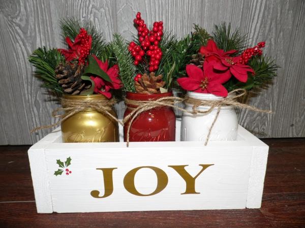 bocal de Noël vases décorés