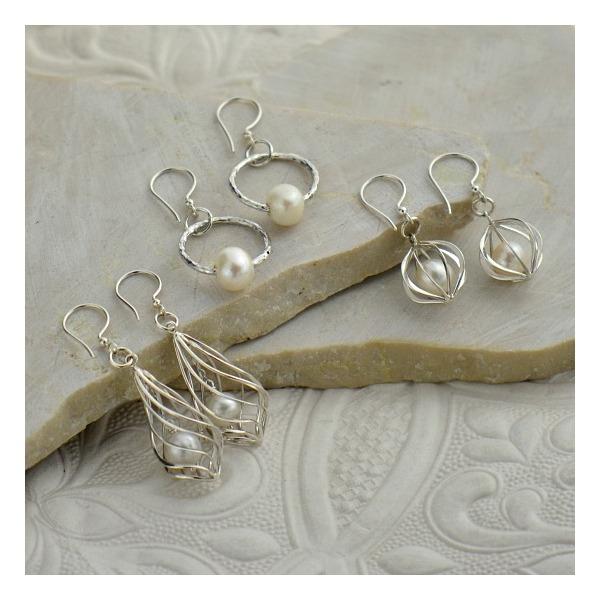 boucles d'oreilles fait main perles changeables