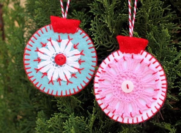 boule de Noël à fabriquer des cerceaux au crochet