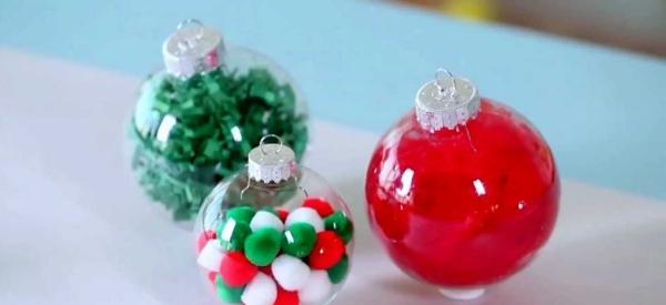 boule de Noël à fabriquer pleines de bonbons