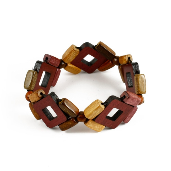 bracelet en bois éléments en bois