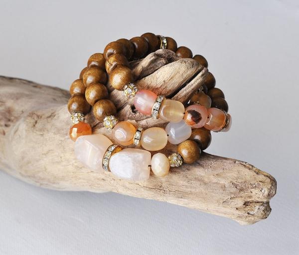 bracelet en bois bracelets combinés