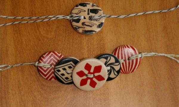bracelet en bois des éléments en bois