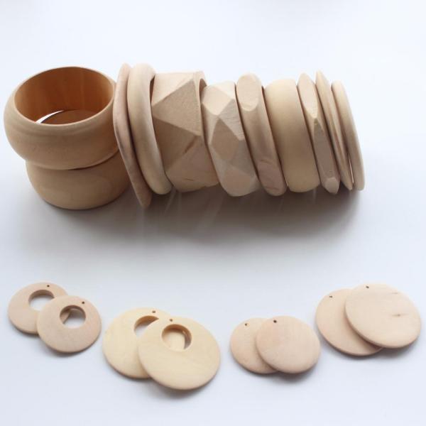 bracelet en bois formes différentes