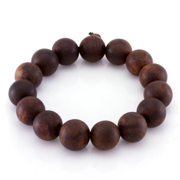 bracelet en bois grosses perles en bois