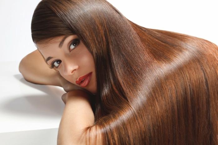 brillance pour les cheveux avec huile d' Abyssinie