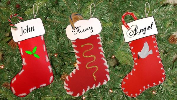 chaussette de Noël à fabriquer bas de Noël pour chacun
